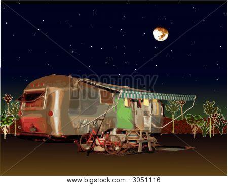 RV con Luna llena en Florida
