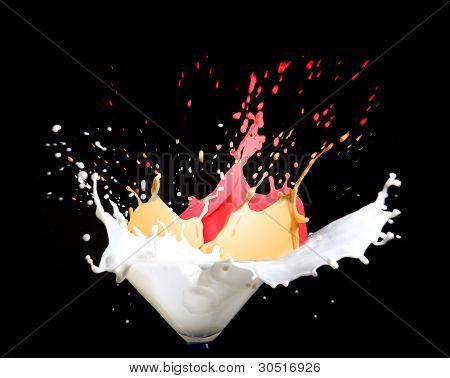 Milk And Paint Splash