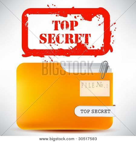 "Folder with documents stamped ""Top Secret"""