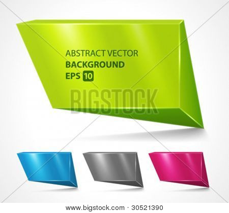 Abstract geometric speech bubbles set vector background. Eps 10.