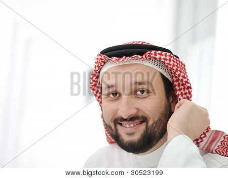 Arabic business man wearing traditional clothes