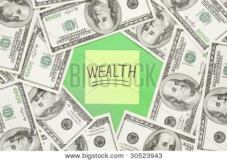 Wealth Notation Concept