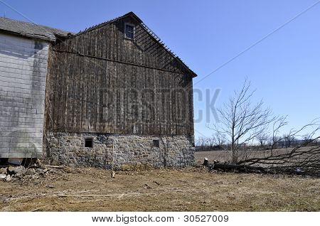 Old Worn Barn In Pennsylvania