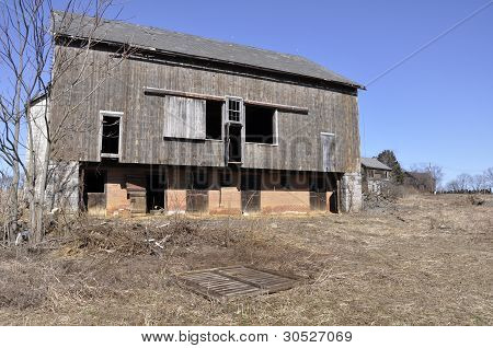 Exterior Of An Old Barn