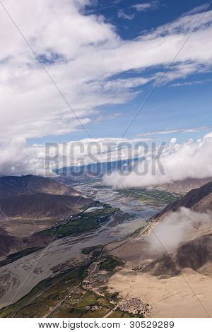 Aerial Photo Of Lhasa