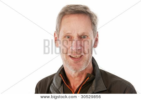 Senior sport man in portrait in studio