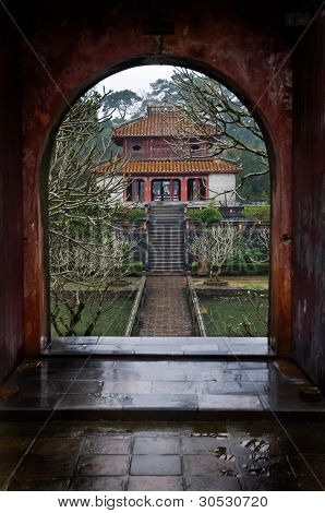 Doorway And Temple, Vietnam