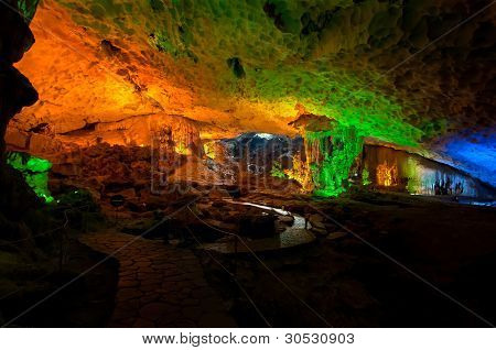 Surprising Cave Interior, Halong Bay