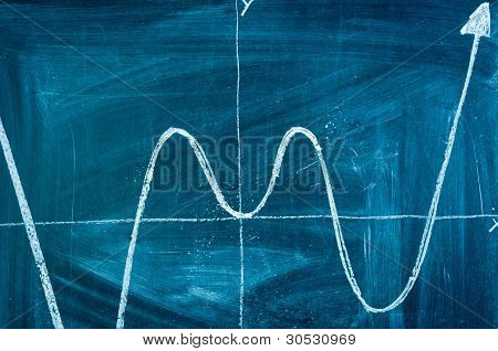 Blue Chalkboard With Arrow