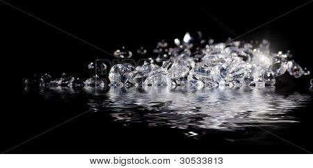 Diamonds at waters edge