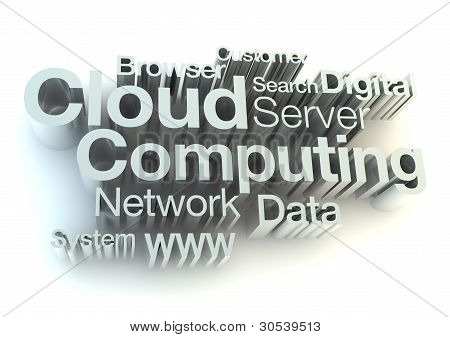Cloud computing silver letters