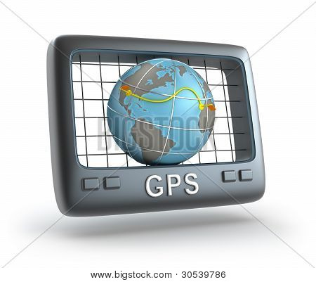 GPS world tracker 3D concept