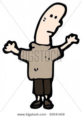phallic head man cartoon