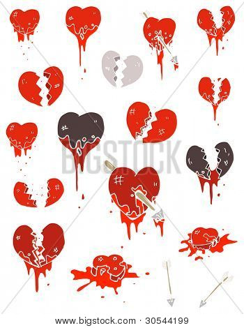 hearts cartoon collection