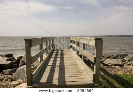 Walkway Into Sea
