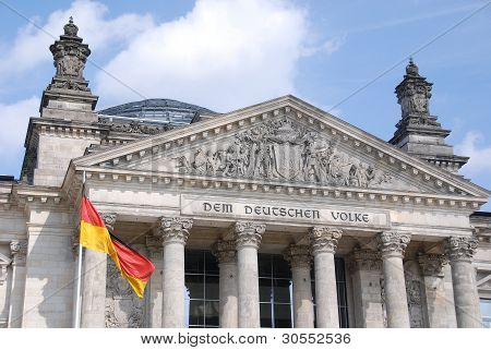 Reichstag at Berlin, Germany.