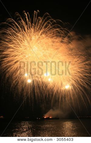 Yellow Fury Fireworks