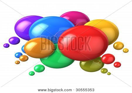 Social networking concept: colorful speech bubbles
