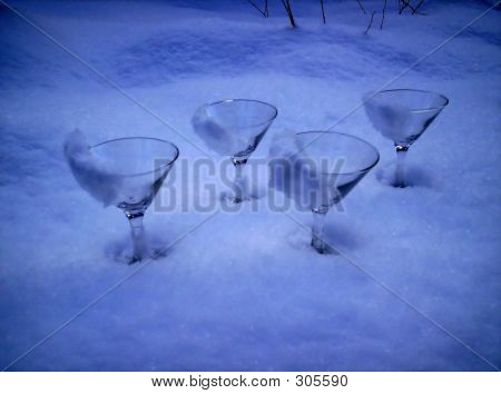 Gin Glasses  Ice Snow