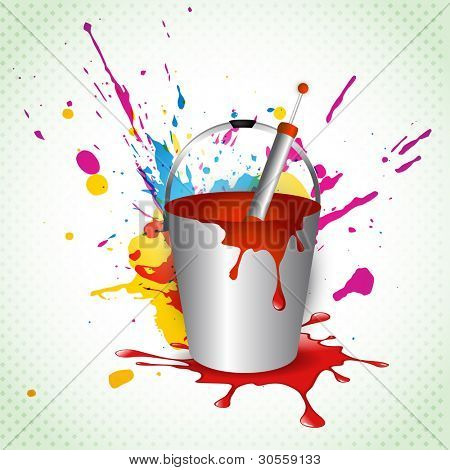 vector holi festival colorful background