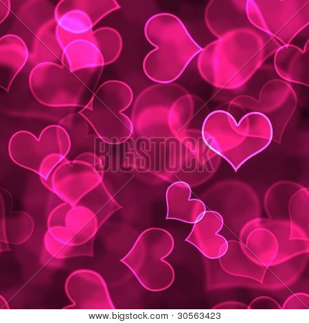 Hot Pink Heart Background Wallpaper