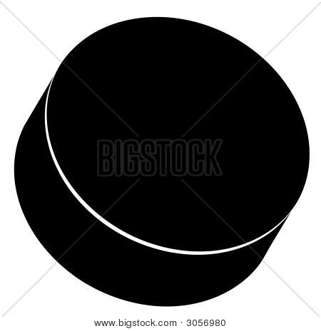 Hockey Puck Black 2