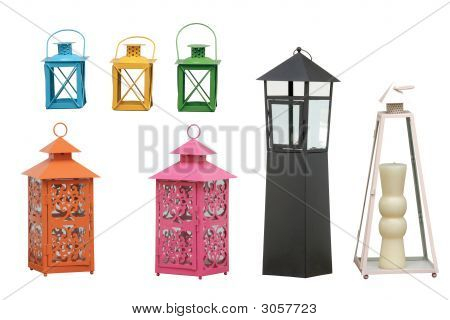 Garden Lanterns Cipping Path