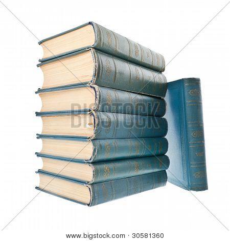 Vintage Books On White