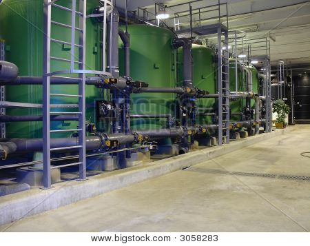Water Treatment Pipes Inside Energy Plant