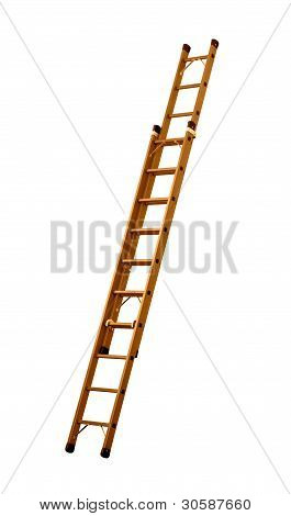 Retractable ladder (clipping path!)