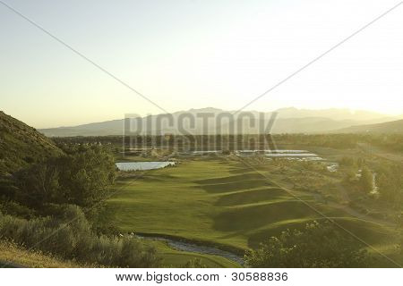 Golf Course View From Above