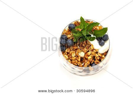 Natural Yogurt With Berries And Muesli