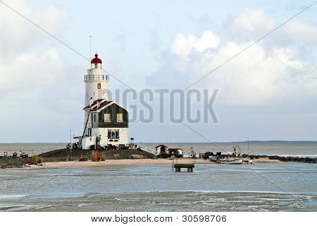 Lighthouse from Marken in the Netherlands