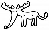 image of rudolf  - cartoon rudolf cartoon - JPG