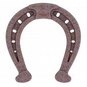 pic of horseshoe  - Decorative rusty horseshoe isolated on white background - JPG