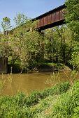 Railroad Trestle Over A River