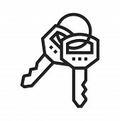 Keys Icon Isolated On White Background. Keys Icon In Trendy Design Style. Keys Vector Icon Modern An poster