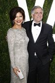 LOS ANGELES - FEB 26:  Julie Chen; Les Moonves arrive at the 2012 Vanity Fair Oscar Party  at the Su