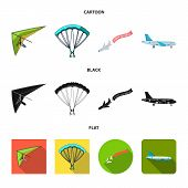 Isolated Object Of Transport And Object Symbol. Collection Of Transport And Gliding  Stock Symbol Fo poster
