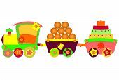 foto of loco  - Locomotive vector illustration art loco kid cake - JPG
