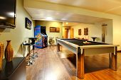 picture of indoor games  - Fun play room home interior - JPG
