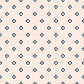 Vector Minimalist Geometric Floral Pattern. Simple Abstract Seamless Texture With Small Flowers, Cro poster