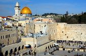 foto of israel people  - The Western Wall is the remnant of the ancient wall that surrounded the Jewish Temple - JPG