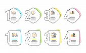 Shopping Bags, Accounting Report And Refresh Bitcoin Icons Simple Set. Banking Money Sign. Sale Disc poster