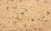 picture of flaxseeds  - A close view of a slice of flaxseed bread - JPG