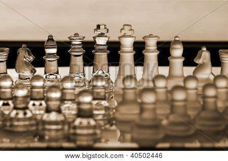 Chess Pieces / Set -  Business Concept Series: Strategy, Ceo, Management, Company.