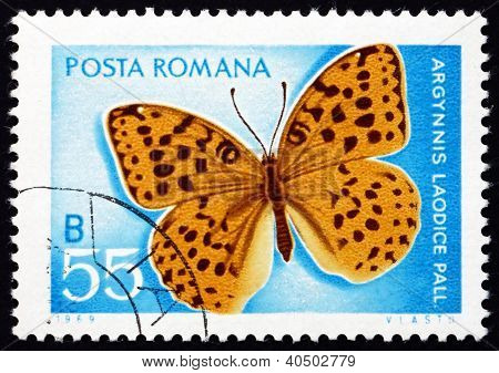 Postage stamp Romania 1969 Pallas' Fritillary, Butterfly