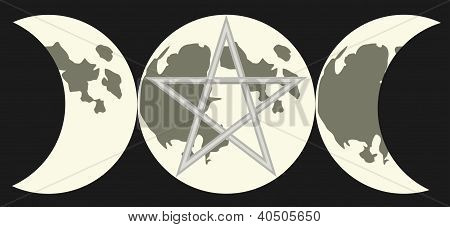 Symbol Of The Triple Goddess