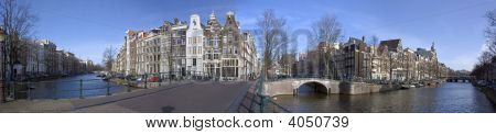 Panoramic view in Amsterdam the Netherlands