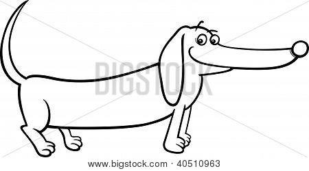 Hund Cartoon Zum Ausmalen
